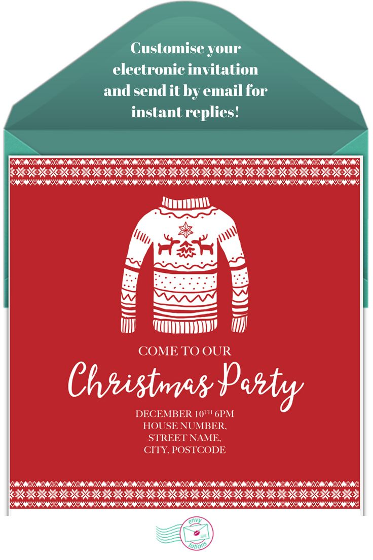 17 best Online Christmas Party Invitations images on Pinterest ...
