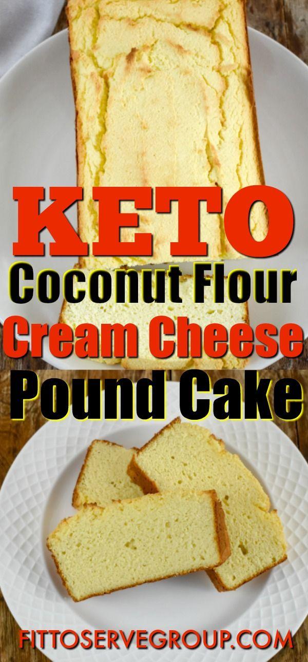 Keto cream cheese coconut flour pound cake is delicious low