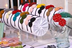 headband display was made out of PVC pipe that measured 2 ft long and had a diameter of 6 inches