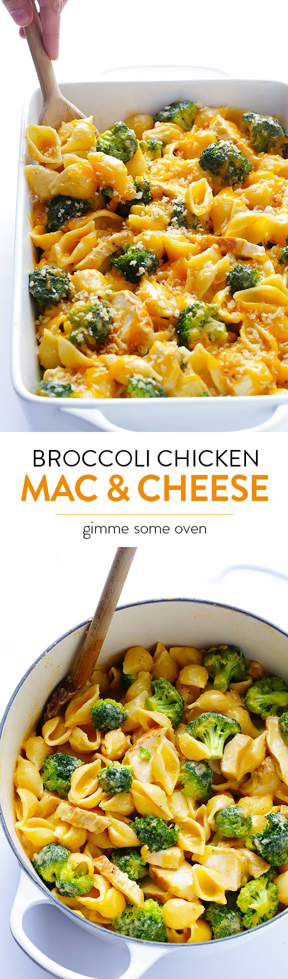 Broccoli Chicken Mac & Cheese -- easy to make, super tasty, and you can serve it stovetop-style or baked | gimmesomeoven.com