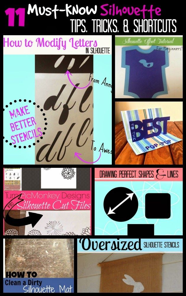 Silhouette School: 11 Must-Know Silhouette Tips, Tricks, Shortcuts & Work Arounds {March Month in Review}