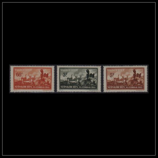 SAAR MICHEL 168-170 ** Signed by Expert : Stamp Dealer Collecting Stamp Collection Values Appraisal Stamp Collection Selling, STAMPS - SELLOS - POSTZEGELS - TIMBRES - FRANCOBOLLI