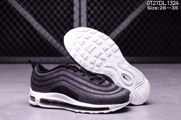 96980d1156 Cheap Nike Air Max 97 LX Swarovski Gray Black Kid shoes  WhatsApp:8613328373859