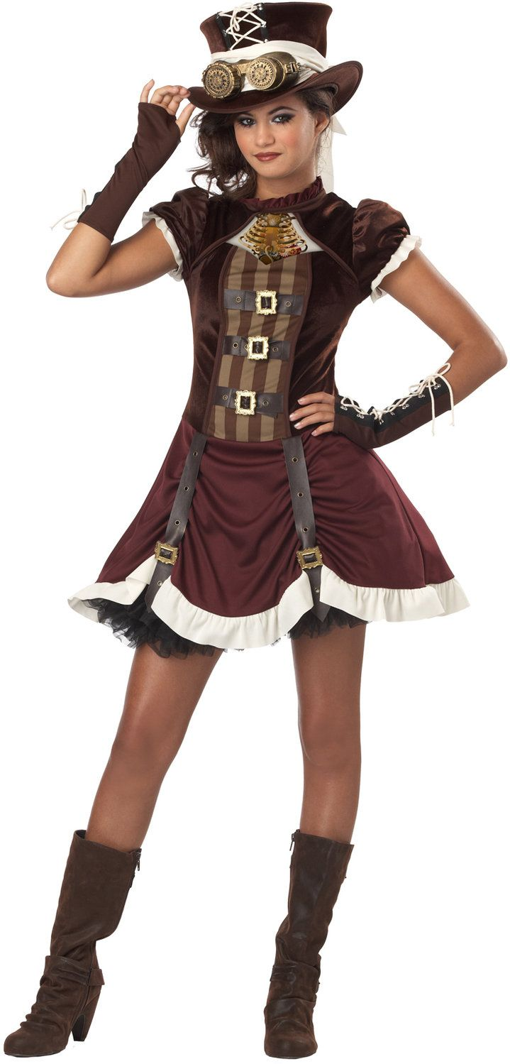 Steampunk Costume | Home >> Tween Costumes >> Steampunk Girl Tween Kids Costume #SteamPUNK ☮k☮