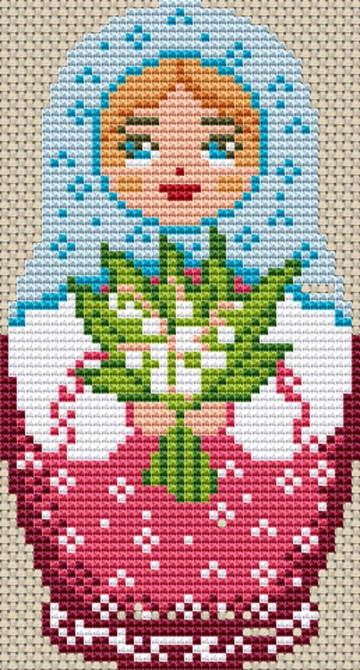 Russian Doll Cross Stitch Chart (Doll Purple) #ebay #Home & Garden