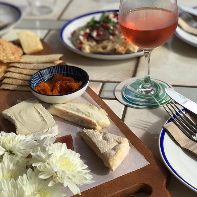 // EVS TERRACE // There's nothing that gives us all the happy feelings quite like a beautiful cheese plate and a glass of something special. Come and join in this Sunday Session on the Terrace today and get your happy on!