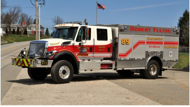 Robert Fulton, PA, Vol. Fire Co. Have One-of-a-Kind Pumper - #Pumper #Rescue #Setcom #Fire #FireDept #Apparatus #Firefighting new deliveries