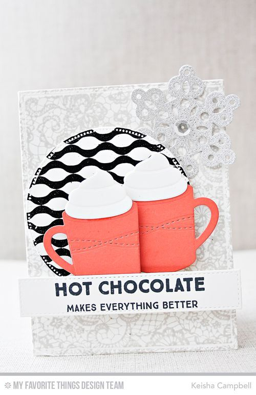 Hug In a Mug, Lace Background, Winter Waves Background, Hot Cocoa Cups ...