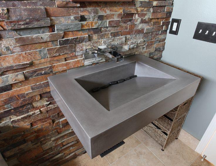 Concrete Sinks Trueform Concrete Custom Work Backdrop