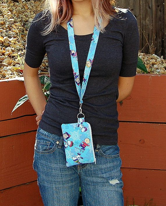 Wallet Pouch with Removable Lanyard Cell Phone by RKEMdesigns
