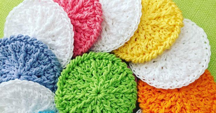 Wie wäre es mal mit selbst gehäkelten Kosmetikpads aus reiner Baumwolle? Sie… – Katrin Behrens