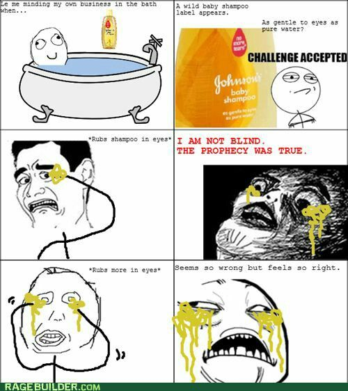 Funny Rage Comics Shampoo