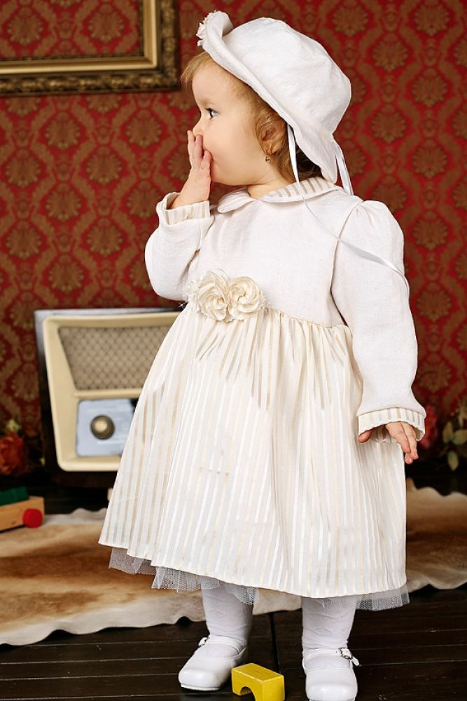 Details about Baby Girl Winter Coat Jacket. White Fleece. Russian Christening Dress u0026 Outfit ...