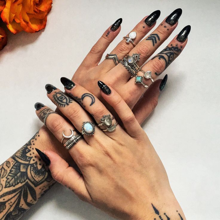 ∘☾✧☽∘ Shop Dixi - Winter 15/16 collection in store now! ∘☾✧☽∘ Create your dream stack at www.shopdixi.com ∘☾✧☽∘     // boho // bohemian // hippie // witchy // moonchild // gypsy // gypsy jewels // finger tattoos // mandala // crescent moon // hand tattoos // rings // ring goals // boho jewellery // bohemian jewellery // jewelry // moon ring // dark // grunge // gothic // moonstone // opal / midi rings