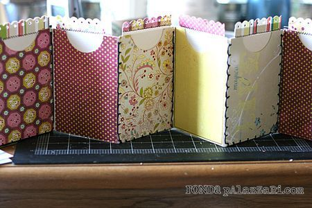 accordion-style mini book tutorial by Ronda Palazzari Inspiration