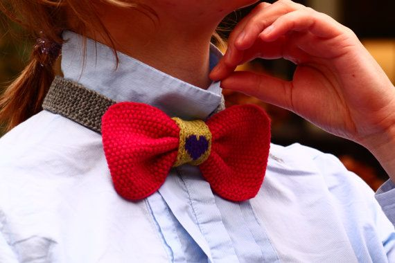 bowtie by POTSandKNITS on Etsy