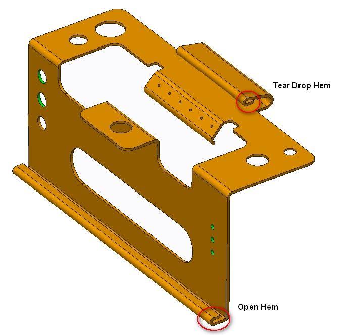 Hem Feature Design Guidelines In Sheet Metal Design In
