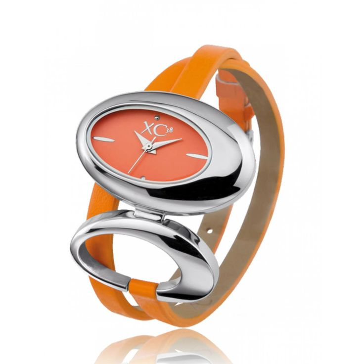 Ladies stainless steel ARCANE orange watches - Xc38