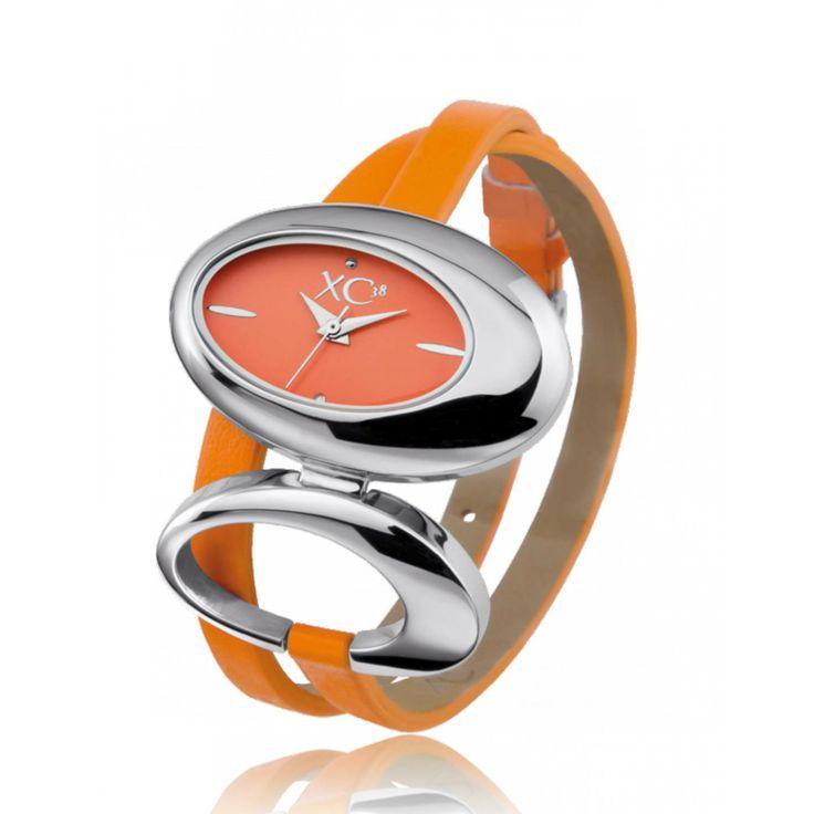 Ladies stainless steel ARCANE orange watches - Xc38