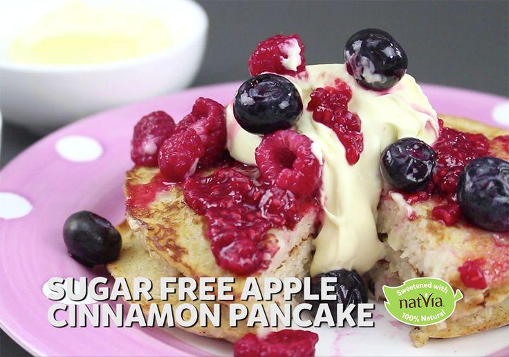 Sugar Free Apple Cinnamon Pancakes - Natvia.com