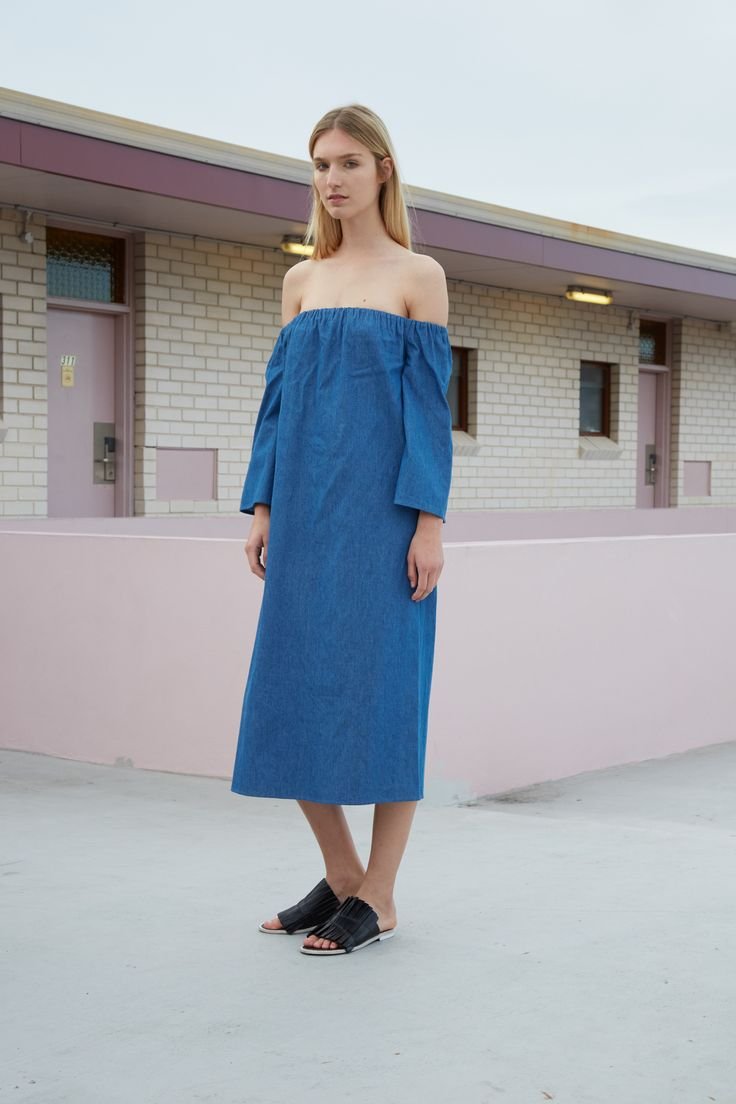 THIRD FORM RESORT 16 COLLECTION | FREE FALL DRESS #thirdform #fashion #streetstyle #minimalism #chic #trend #dress #denim