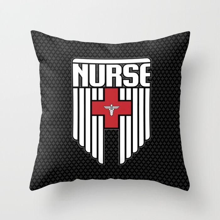 Nurse Shield Throw Pillow