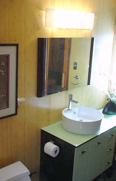 13 best mid century bathroom general images on pinterest for Small mid century modern bathroom
