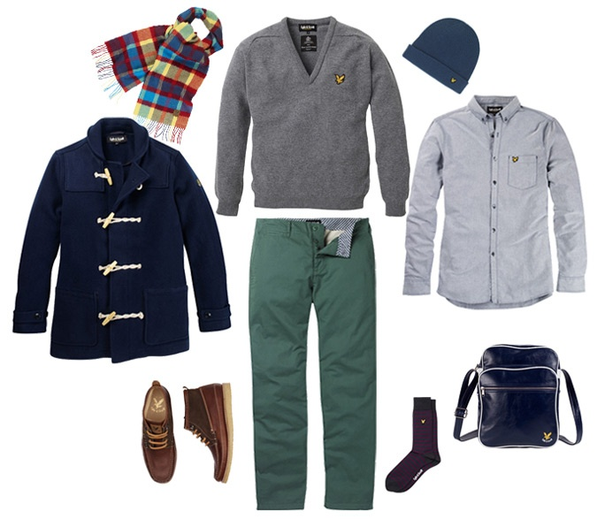 Lambswool Lyle and Scott look AW12