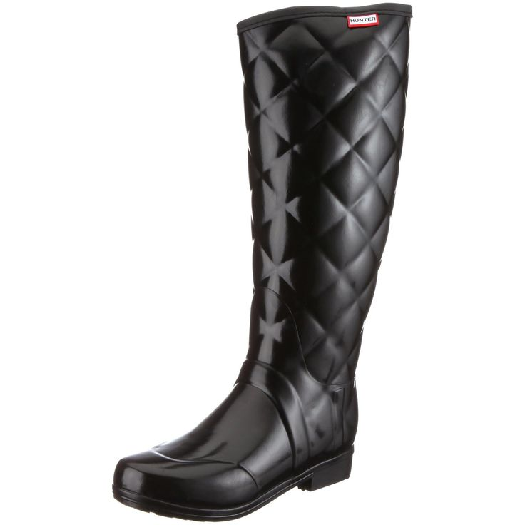 Womens Hunter Sandhurst Savoy Quilted Winter Festival Snow Wellies Boots - Black - 9 -- Read more reviews of the product by visiting the link on the image.
