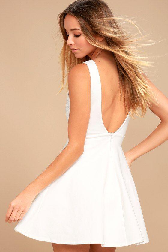 e083f0acfb I Promise White Lace Skater Dress 3