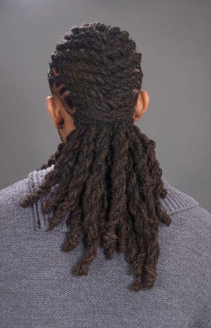 A man with hair.....oooo child.
