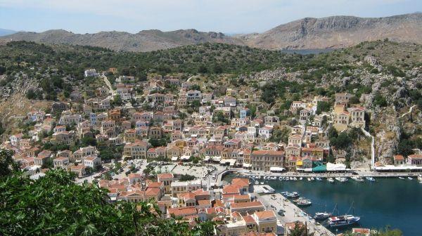 View of Gialos Port, Simi island