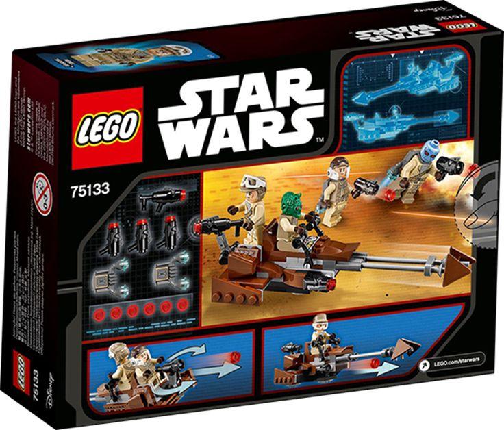 LEGO STAR WARS 75133 Rebel Alliance Battle Pack Når oprørerne har brug for en hurtig reaktion, så tilkald speederbiken med knopskydere foran og bagpå. Sæt piloten og agterskytten fast, og led oprørerne i kamp!