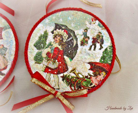 Decoupage victorian children christmas por elrinconcitodezivi