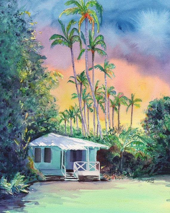 658fe4d07672fbad82f156da7b7c711c--tropical-paintings-tropical-art Painting Old Hawaiian Plantation House on old chinese house paintings, farm paintings, plantation homes acrylic canvas paintings, scenic country landscape paintings,