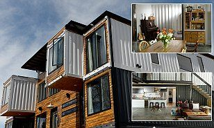 Thinking INSIDE the box: Denver couple spend $500,000 to convert nine old shipping containers into seven-bedroom luxury home | Daily Mail Online