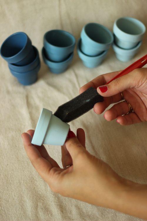 DIY Craft Rain Chain! Tiny pots for a tiny house.