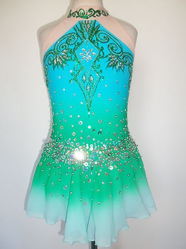Custom Made New Ice Skating Baton Twirling Dress Costume | eBay