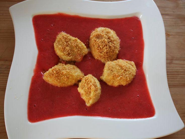 Dampfgarer Rezepte: Topfennockerl mit Erdbeersauce im Dampfgarer