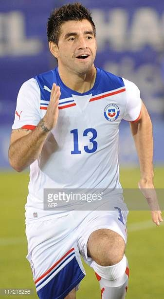 Chile's national football team player Marco Estrada before their friendly match against Paraguay in Asuncion on June 23 2011AFP PHOTO Pablo Burgos