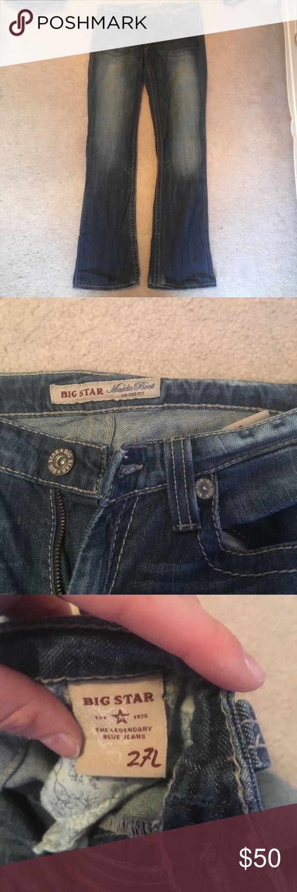 Big Star Size 27 boot cut jeans Big Star Size 27 boot cut jeans. Mid rise                    Length 30in Big Star Jeans Boot Cut