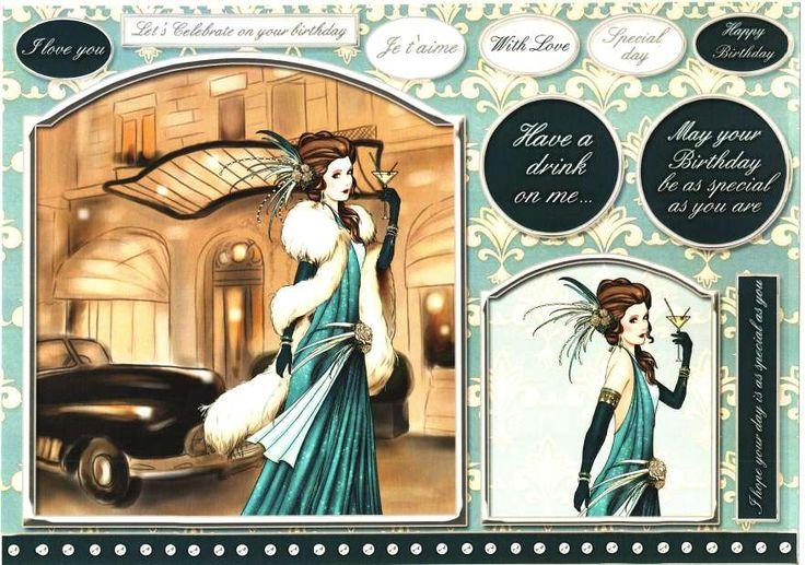 Foil Play: Debbi Moore Designs - Art Deco Paris card toppers #1
