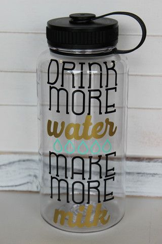 "*Pre-Order* ""Drink More Water Make More Milk"" Water Bottle - Cute as a Button Baby Boutique"