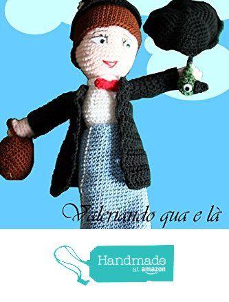 Pupazzo amigurumi ispirazione Mary Poppins da Valeriando qua e là https://www.amazon.it/dp/B01M0E23NU/ref=hnd_sw_r_pi_dp_Val-xb81QYC9V #handmadeatamazon