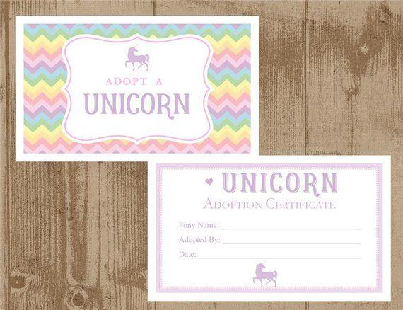 Set 15 Adopt a unicorn WHITE boxes, Certificates and