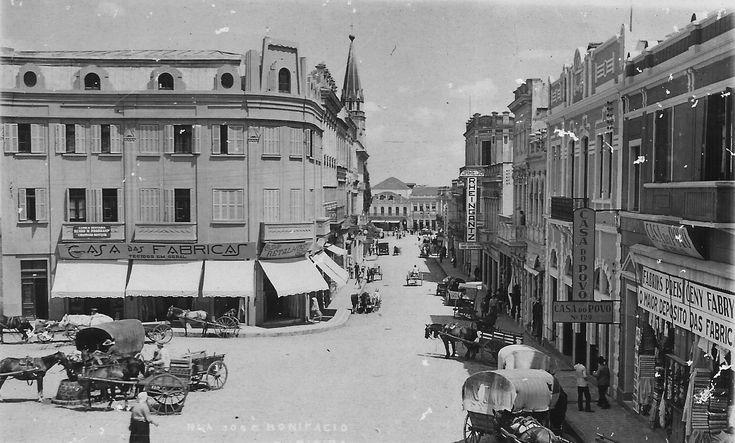 Curitiba - Rua Jose Bonifacio em 1939