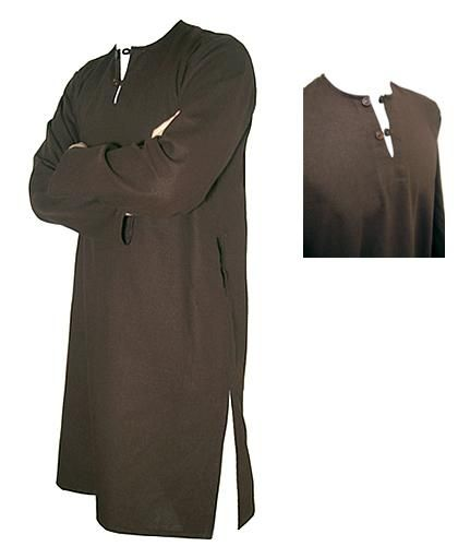Cotton Blend Mens Tunic Shirt Islamic Turkish Style