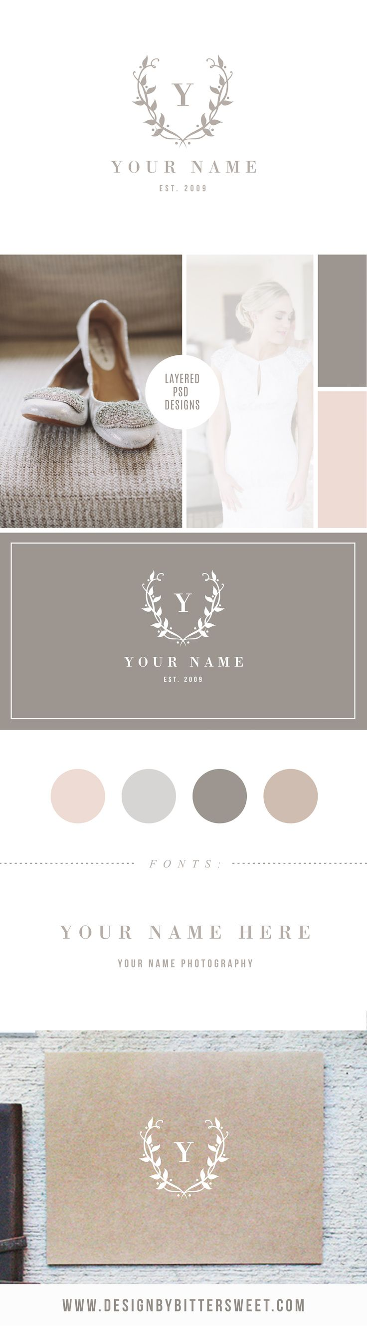 Our newest logos in the shop. Photography business logos. Wedding photography logos.