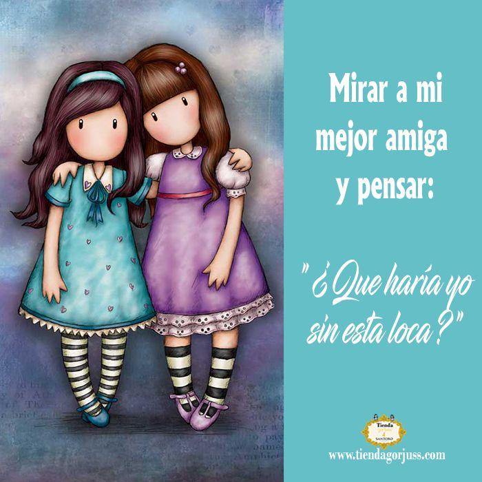 """Mirar a mi mejor amiga y pensar: """"¿Qué haría yo sin esta loca?""""   @tiendagorjuss.com #gorjuss #frasesgorjuss #felizlunes #frases #felizdia #frasedeldia #amigas #friends #tiendagorjuss"""
