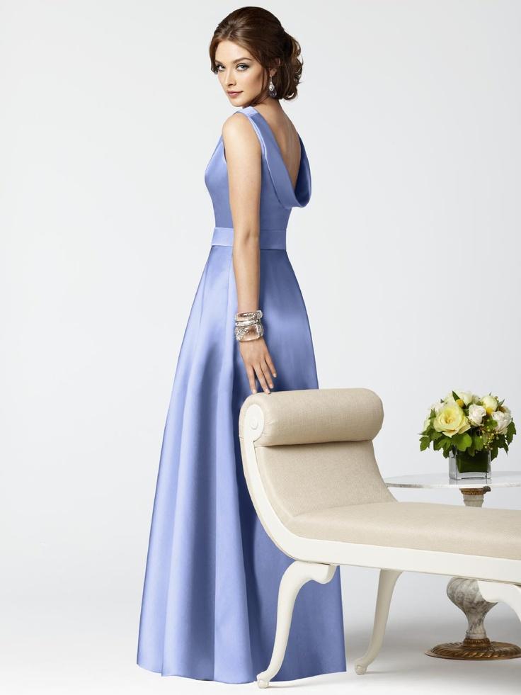 Bridesmaid dress, periwinkle blue.